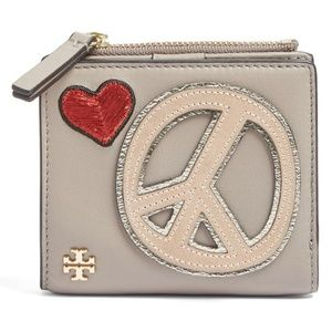  TORY BURCH peace embellished mini wallet